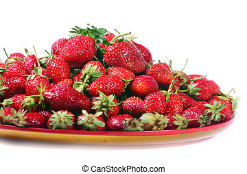 beautiful ripe strawberries