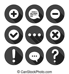 Chat Icons Monochrome Series