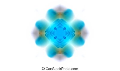 gorgeous oriental religion fancy - blue flower...