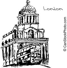 Hand drawn of London set.