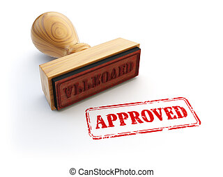 Stamp Approved isolated on white. Agreement or approval concept.