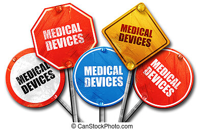 medical devices, 3D rendering, street signs