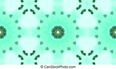 green butterfly circle pattern