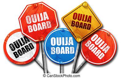 ouija board, 3D rendering, street signs