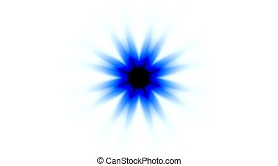 blue daisy flower pattern or ray