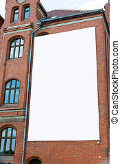 Blank billboard canvas on brick wall Outdoor advertising in...