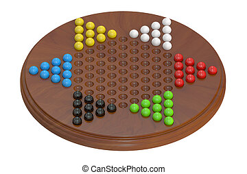 chinese checkers, 3D rendering