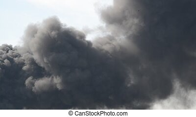 lot of black smoke from the fire - A lot of black smoke from...