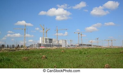 natural landscape of construction site in distance - The...