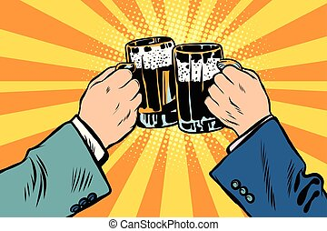 toasting hands beer party poster - St. Patrick Day or...