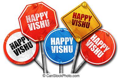 happy vishu, 3D rendering, street signs