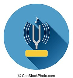 Tuning fork icon. Flat design. Vector illustration.