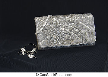 The clutch bag - The  silver  women clutch bag
