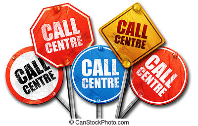 call centre, 3D rendering, street signs