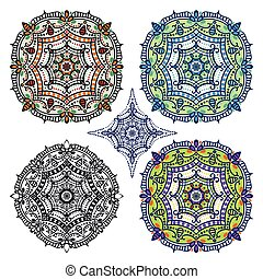 Mandalas background.Orient,ethnic pattern set - Mandala...