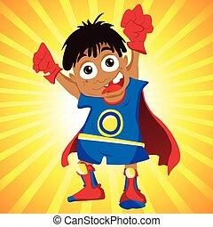 Black Super hero Boy.