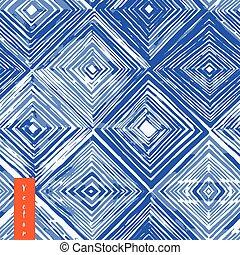 Watercolor shibori seamless pattern.