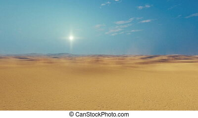 Motion through african sandy desert - Motion through barren...