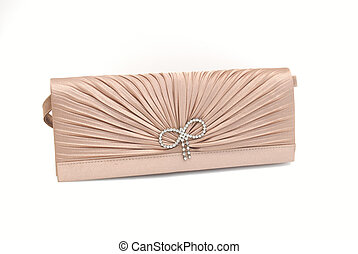 The clutch bag - The women clutch bag isolated on white...