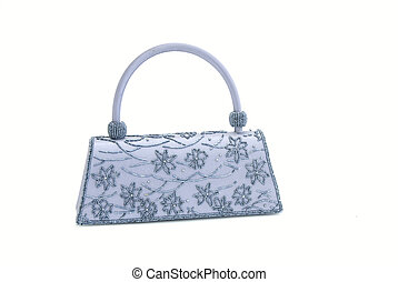 The clutch bag - The elegance women clutch bag isolated on...