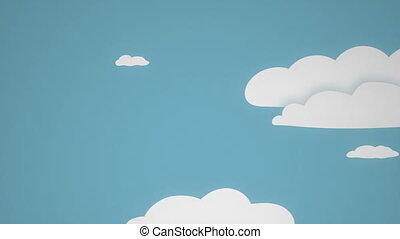Seamless background with clouds - This is seamless video of...