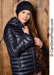 demi jacket - Trendy girl teenager in demi jacket and...