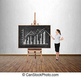 dibujo, empresa / negocio, gráfico,