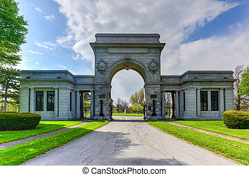 Forest Lawn Cemetery in Buffalo, New York Monuments,...
