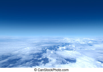 Sky collection - Shot from airplane - Wide panoramic images...