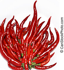 hot chili pepper like a burning flame fire isolated on...
