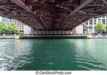 Underside of Bridge in Chicago