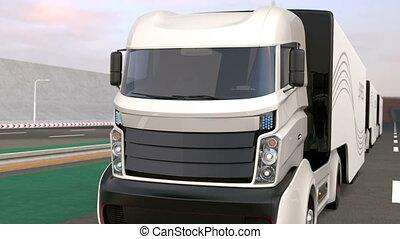 Fleet of hybrid trucks