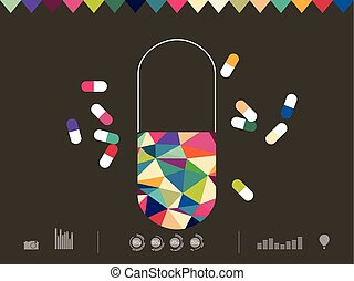 Vector illustration of icon drug