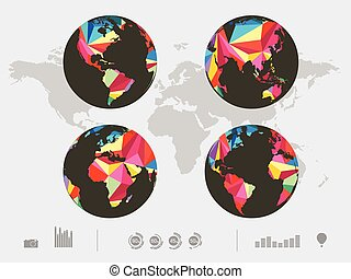 Vector illustration of color world