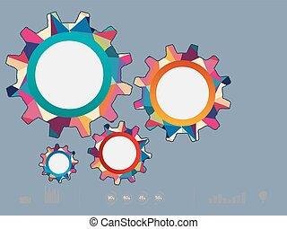 Vector illustration of color gear