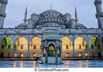 Sultan Ahmed Mosque known as the Blue Mosque in Istanbul, Turkey
