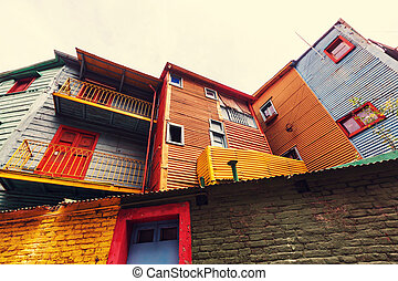 Buenos Aires - Bright colors of Caminito in La Boca...