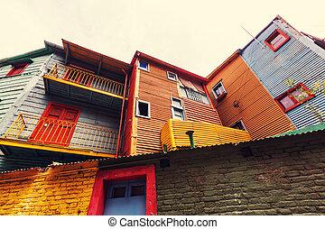 Buenos Aires - Bright colors of Caminito in La Boca...