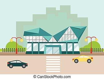 shopping center modern facade