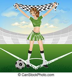 Girl soccer fan