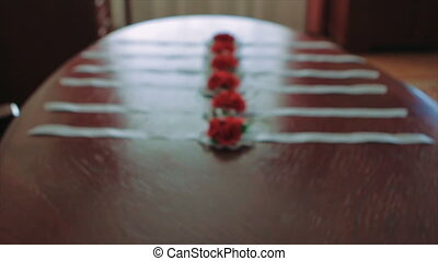 Red Rose Corsage For Female's Wrist Mid Shot - Mid Shot of...