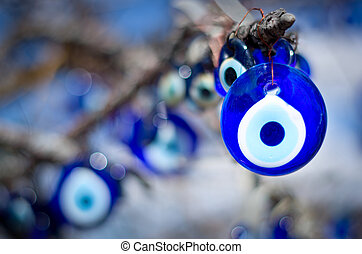 A nazar, charms to ward off the evil eye , in Cappadocia,...