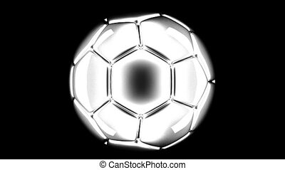soccer ball rotating 3d render
