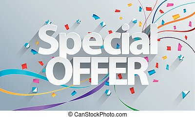 Special offer - Vector illustration of Special offer text on...