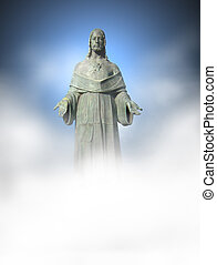 Jesus Statue, lower part in white color, great for placing...