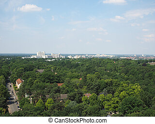 Aerial view of Berlin - Aerial view of the city of Berlin,...