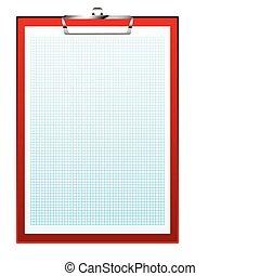 clip board graph paper