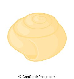 Shell icon in cartoon style on a white background