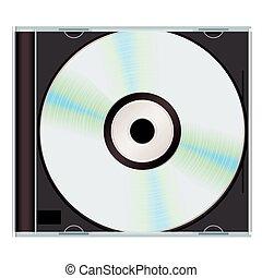 music cd case black