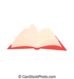 Opened book with pages fluttering icon